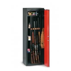 T/705R Armoire à fusils à clé pour 5 fusils + 4 compartiments - 180 L