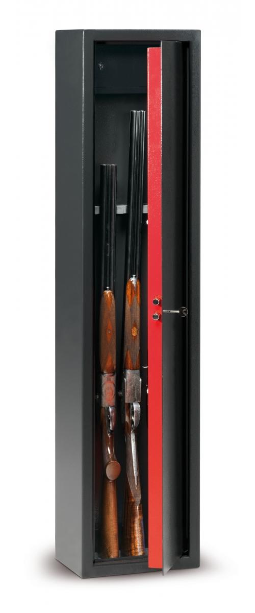 Armoire à fusils à clé pour 5 fusils - 75 L