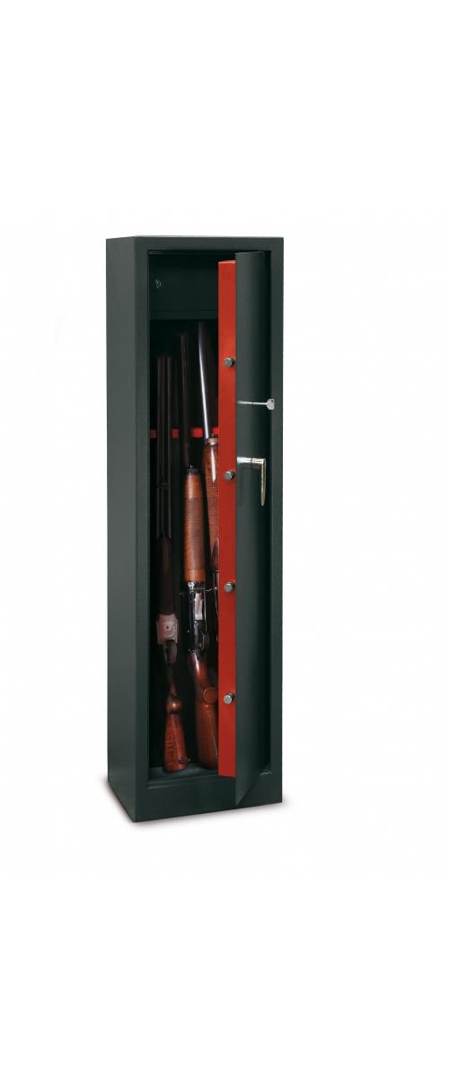 Armoire à fusils à clé pour 5 fusils - 119 L