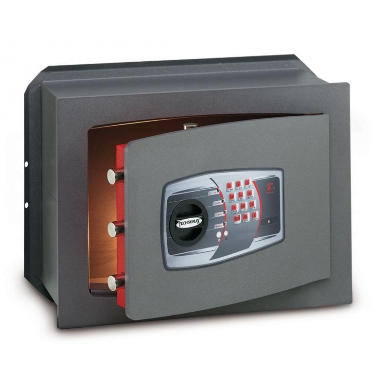 dt 6p coffre fort emmurer lectronique 33 l technomax. Black Bedroom Furniture Sets. Home Design Ideas